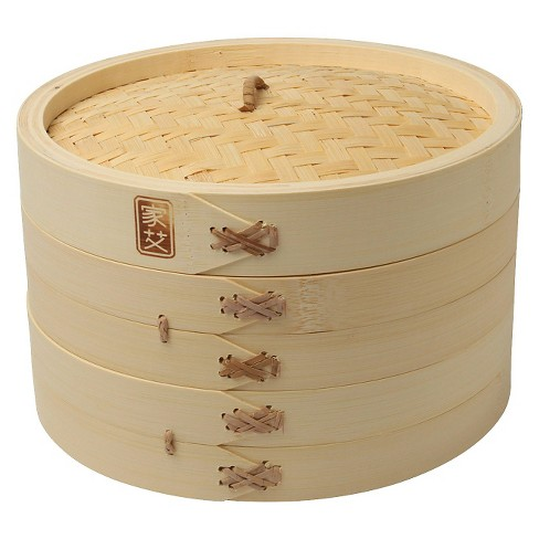 "Joyce Chen 10"" Bamboo Steamer - 3 Pc. - image 1 of 1"