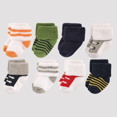 Luvable Friends Baby Boys' 8pk Sock Set - Gray 0-6M