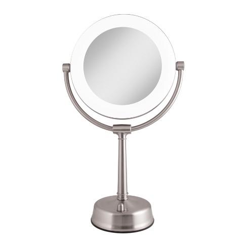 Zadro Fluorescent Lighted Mirror, Adjustable, Infinity Dimmer, 10X / 1X Power - Satin Nickel - image 1 of 4