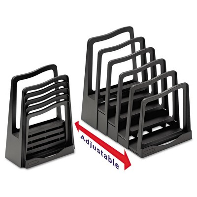 Avery Adjustable File Rack, Five Sections, 8 x 10-3/4 x 11-3/4, Black