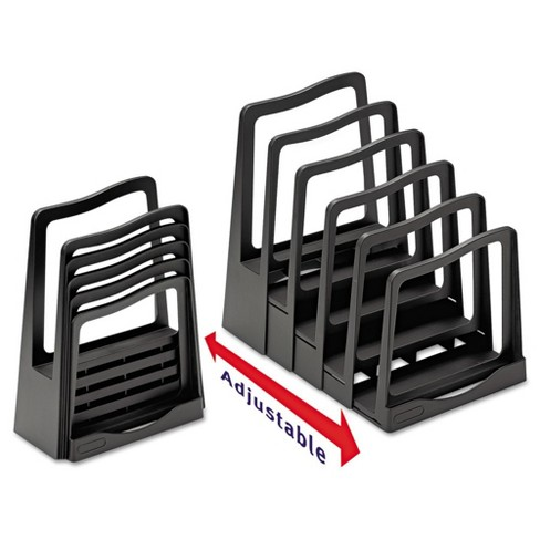 Avery Adjustable File Rack, Five Sections, 8 x 10-3/4 x 11-3/4, Black - image 1 of 2