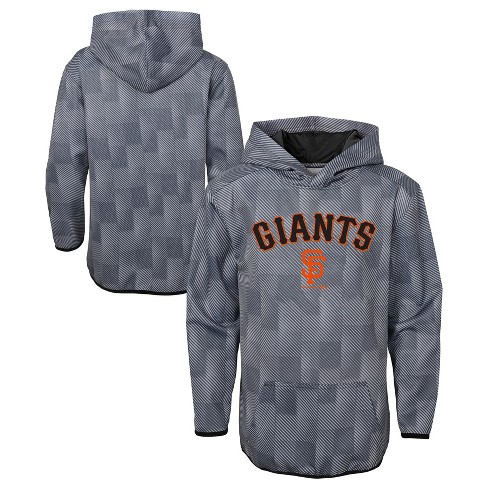 MLB San Francisco Giants Boys' First Pitch Gray Poly Hoodie - image 1 of 3