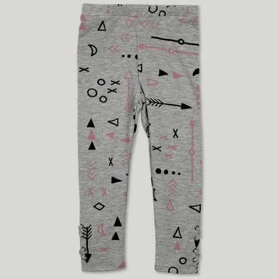 Afton Street Toddler Girls' Leggings - Gray 18M