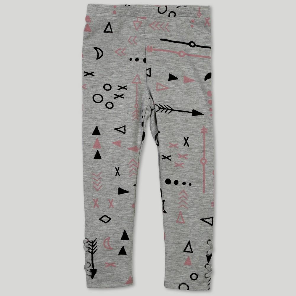 Afton Street Toddler Girls' Leggings - Gray 2T