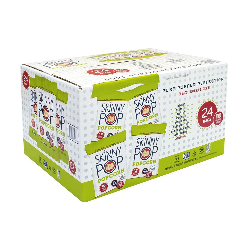Skinny Pop Popcorn 100 Calorie Bags - 24ct