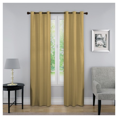 "Kendall Thermaback Blackout Curtain Panel Tan (40""x63"") - Eclipse™ - image 1 of 1"