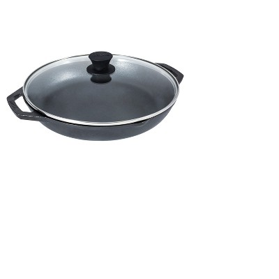 Lodge 12  Cast Iron Chef's Pan with Lid Black
