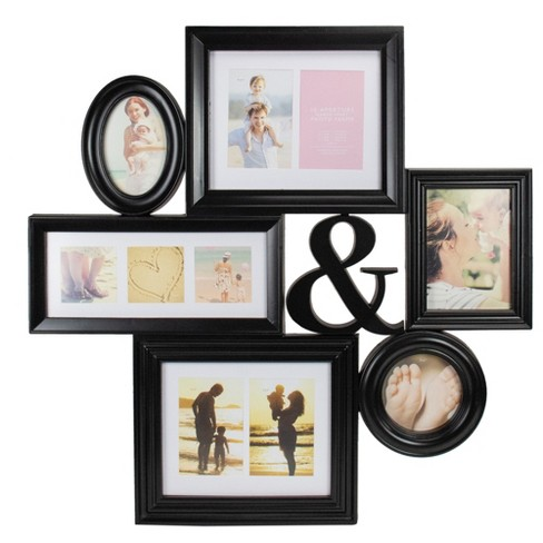 "Northlight 27.75"" Black Multi-Size Collage Photo Picture Frame Wall Decoration - image 1 of 4"