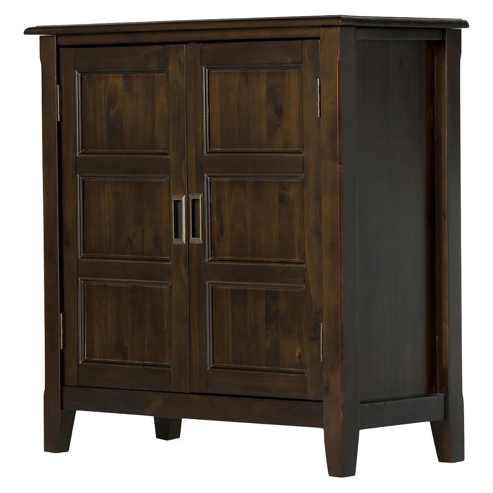 Burlington Low Storage Cabinet - Espresso Brown - Simpli Home