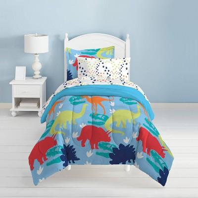 Dinosaur Mini Bed in a Bag Blue - Dream Factory