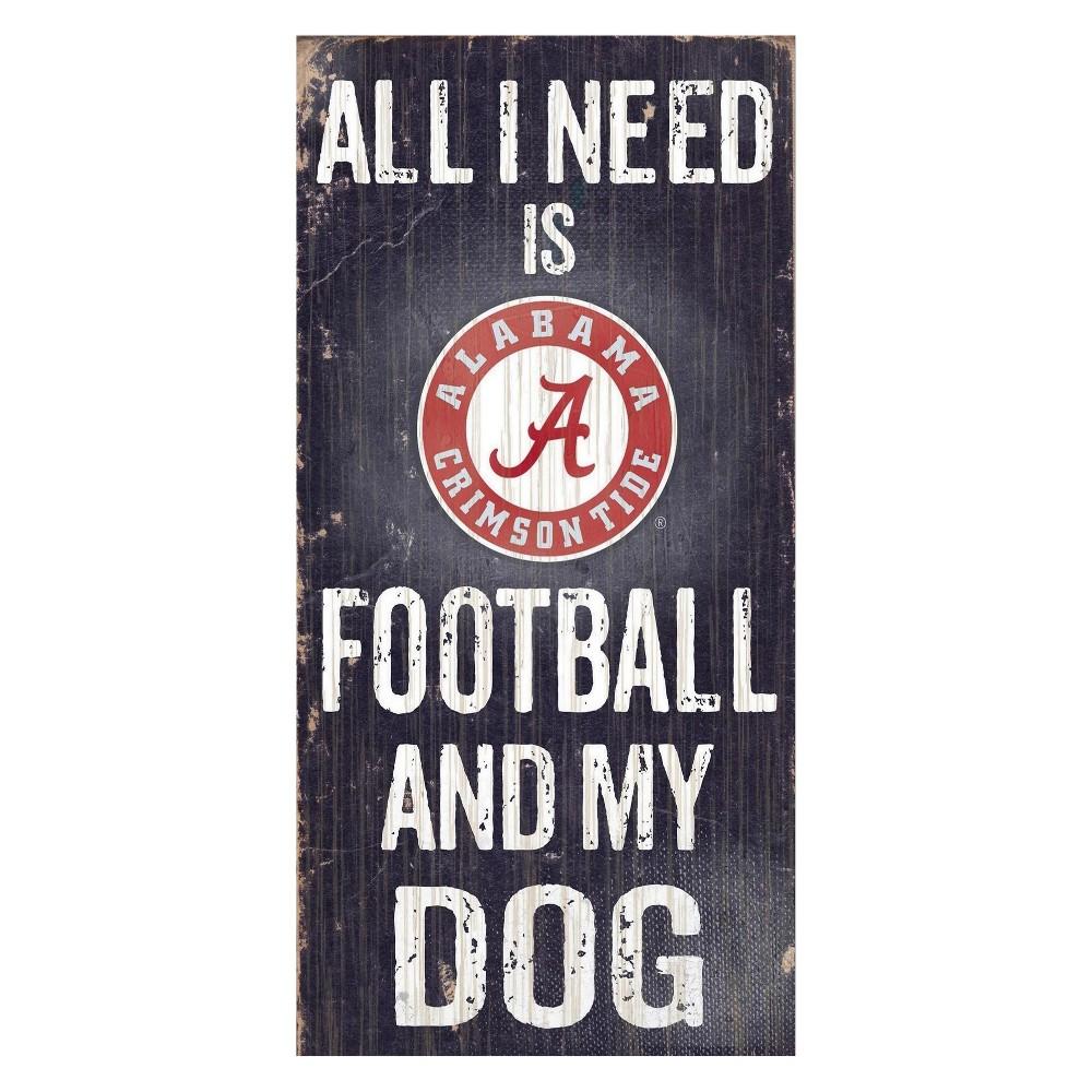 Alabama Crimson Tide Football And My Dog Sign
