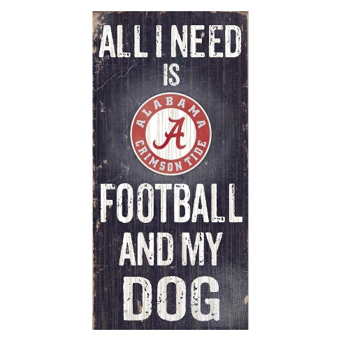 NCAA Fan Creations Football And My Dog Sign - image 1 of 1