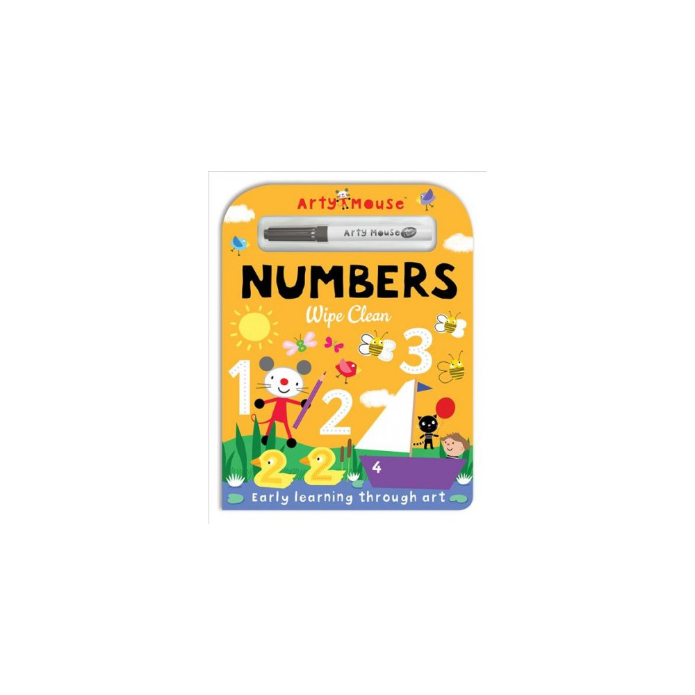 Numbers : Wipe Clean - (Arty Mouse Wipe Clean) by Mandy Stanley (Hardcover)
