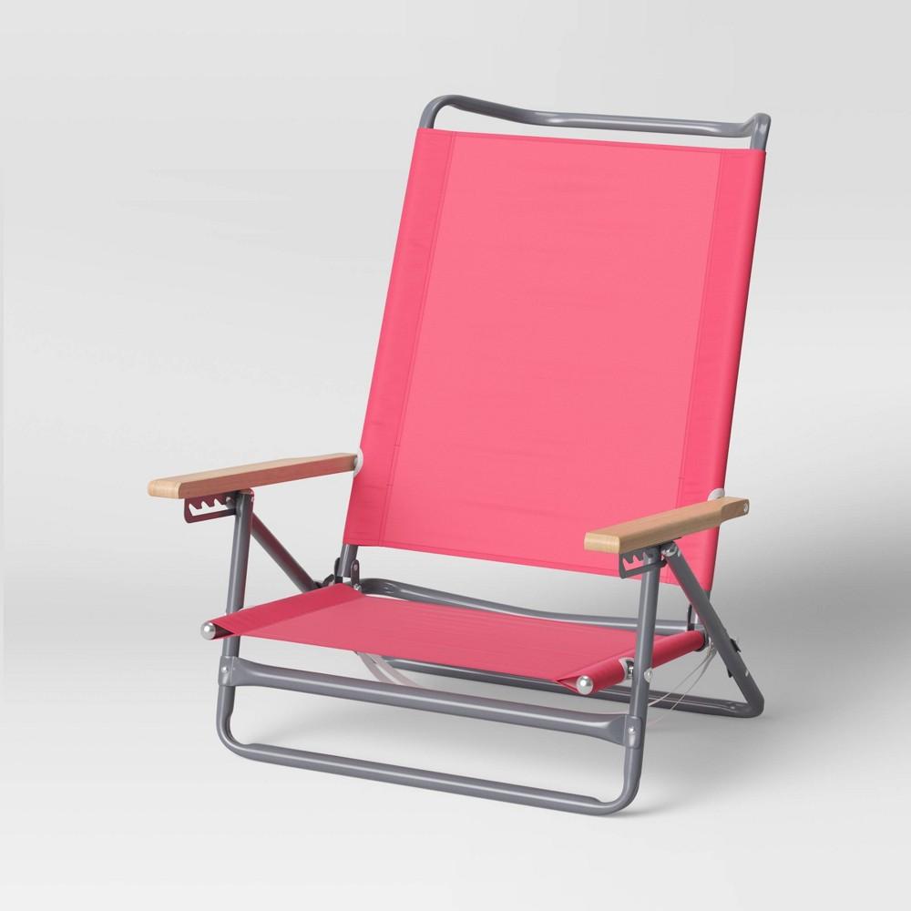 Promos 5-Position Beach Sand Chair - Pink - Sun Squad™