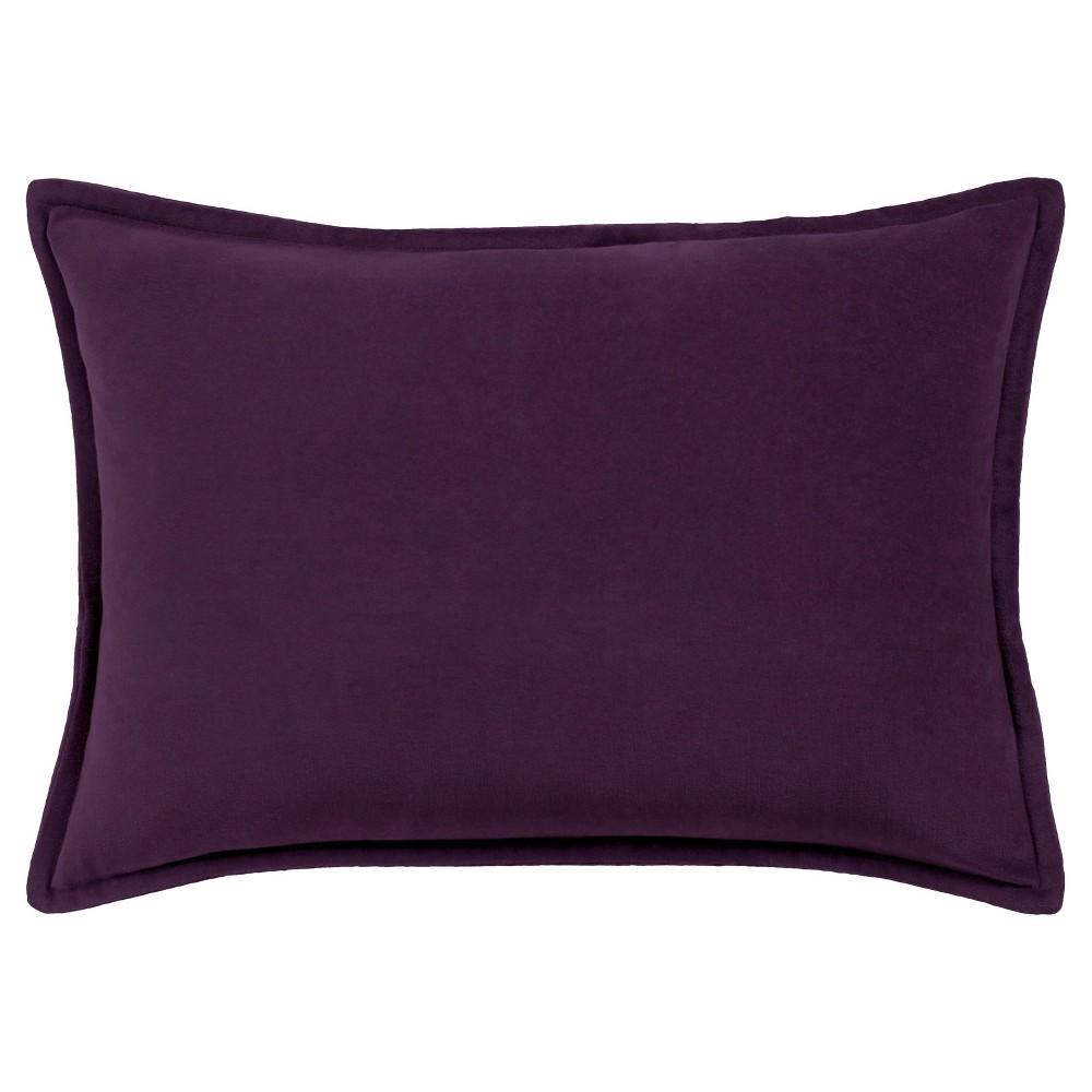 Purple Velizh Woven Throw Pillow (13x19