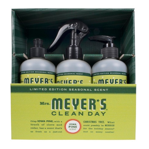 Mrs. Meyer's Iowa Pine Scented Household Cleaner and Disinfectant - 3ct - image 1 of 3