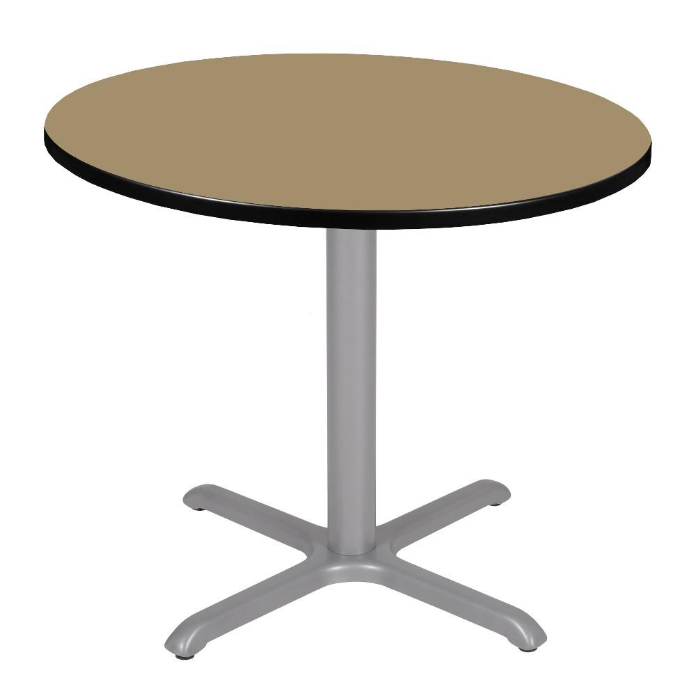 36 Via Round X - Base Table Gold/Gray - Regency