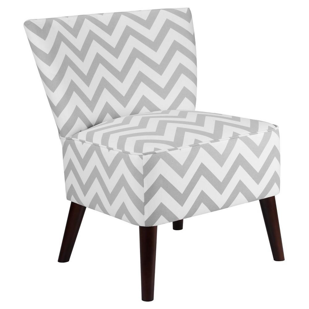 Chevron Accent Chair - Gray/White - Dorel Living