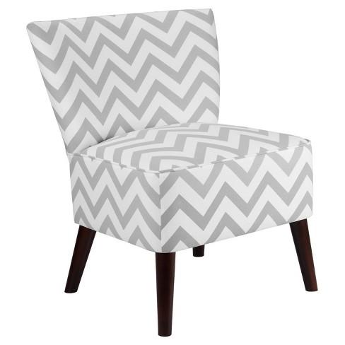 Marvelous Chevron Accent Chair Gray White Dorel Living Theyellowbook Wood Chair Design Ideas Theyellowbookinfo