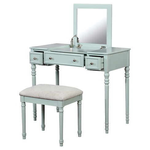 Enjoyable Michelle Vanity Set Mint Linon Beutiful Home Inspiration Aditmahrainfo