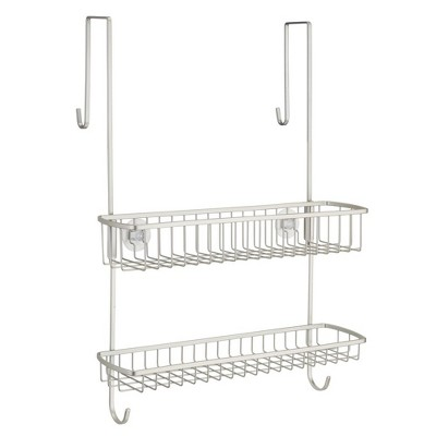 mDesign Wide Over Shower Door Bathroom Tub & Shower Caddy