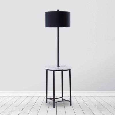 Shenna Floor Lamp with USB Black - Versanora