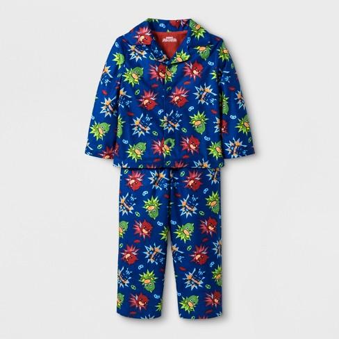 Toddler Boys  PJ Masks 2pc Coat Pajama Set - Blue 2T   Target a4c23fd1b