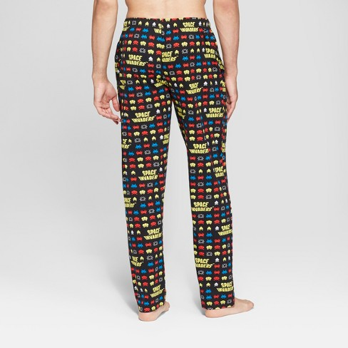 4b8b197480278 Men's Space Invaders Pajama Pants - Black : Target
