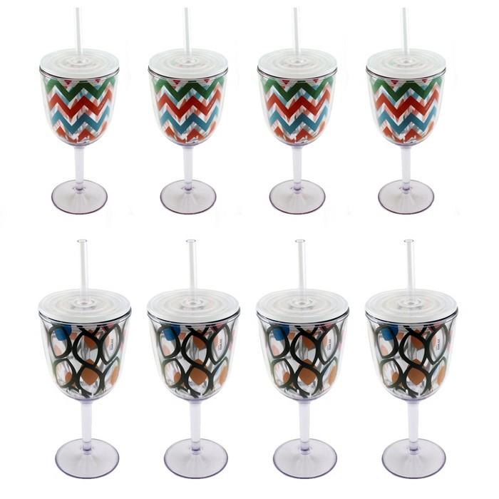 BergHOFF 8Pc Acrylic Wine Glass Set : Target