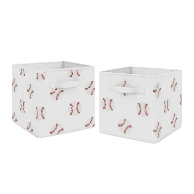 Baseball Patch Fabric Storage Bins - Sweet Jojo Designs