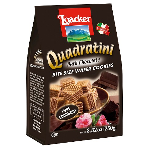 Quadratini Dark Chocolate Bite Size Wafer Cookies 8.82 oz - image 1 of 1