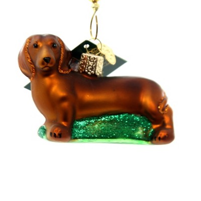 """Old World Christmas 2.0"""" Dachshund Weiner Dog Affectionate  -  Tree Ornaments"""