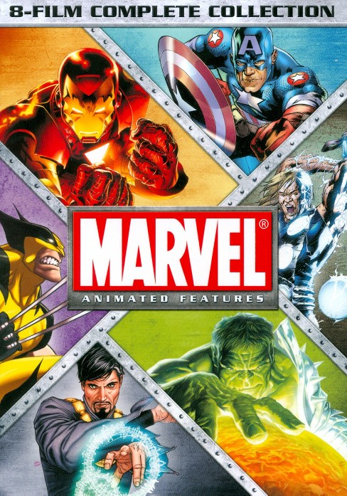 Marvel Animated Features 8-Film Complete Collection (dvd_video) - image 1 of 1