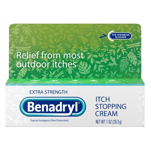 Benadryl Extra Strength Itch Relief Cream Topical Analgesic - 1oz - image 1 of 4