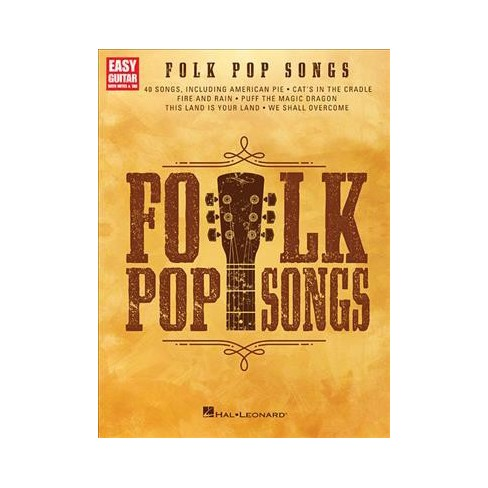 Folk Pop Songs Easy Guitar With Notes Tab Paperback Target
