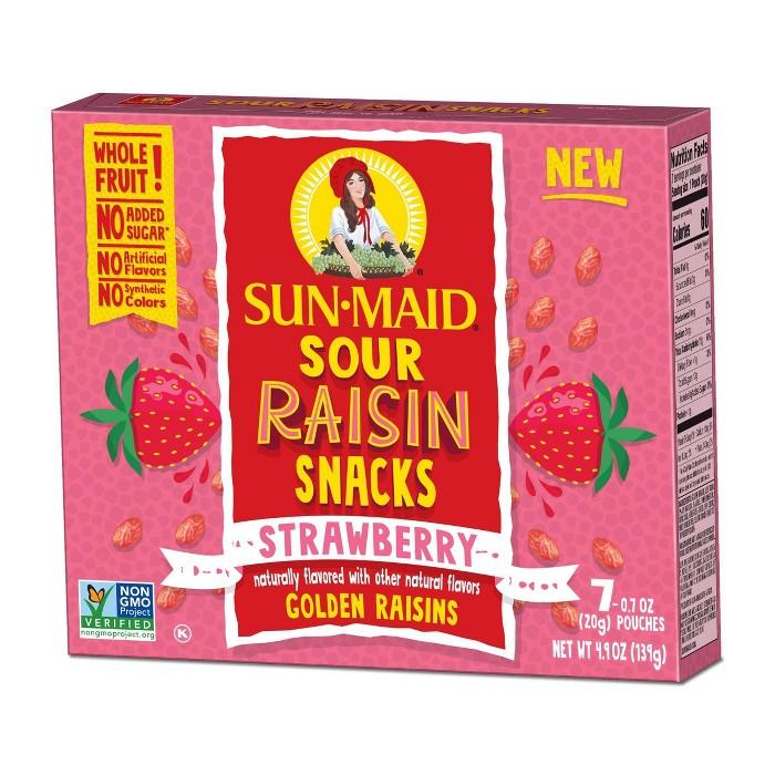 Sun-Maid Sour Raisin Strawberry Snacks - 7ct/4.9oz - image 1 of 4