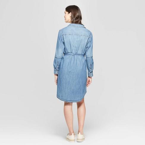 f5e5f479423 Women s Long Sleeve Denim Shirtdress - Universal Thread™   Target