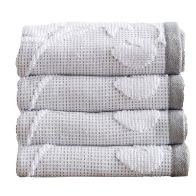 Great Bay Home Roselyn 100% Cotton Floral Jacquard Bath Towels