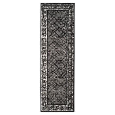 "Remi Runner - Black/Silver (2'6""x8')- Safavieh"
