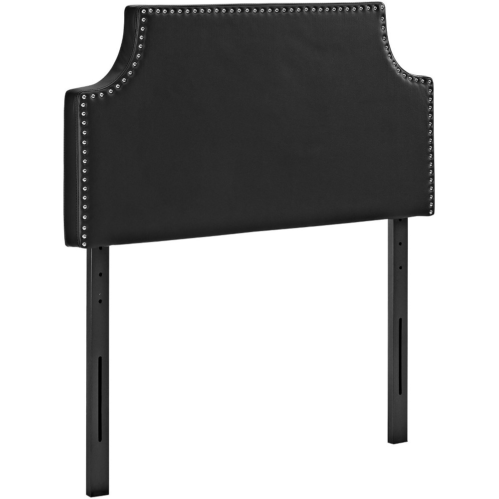 Laura Twin Upholstered Vinyl Headboard Black - Modway