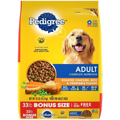 Pedigree Adult Complete Nutrition Roasted Chicken Rice & Vegetable Flavor Dry Dog Food - 33lbs