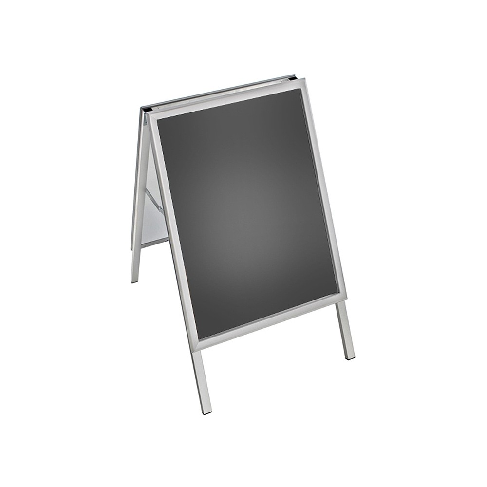 Azar A-Board Sign in Silver. Snap Frame Size: 22 x 28, Clear