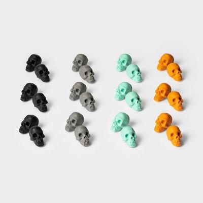 24ct Skull Eraser Halloween Party Favors - Hyde & EEK! Boutique™