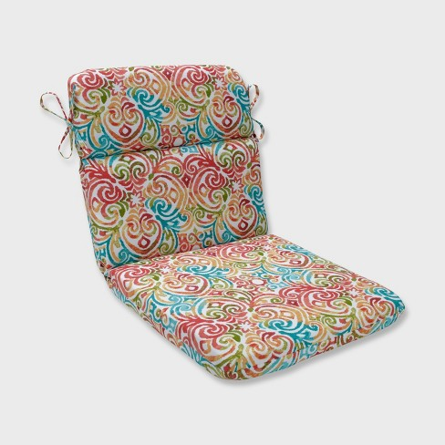Corinthian Rounded Corners Outdoor Chair Cushion Dapple Blue - Pillow Perfect - image 1 of 1