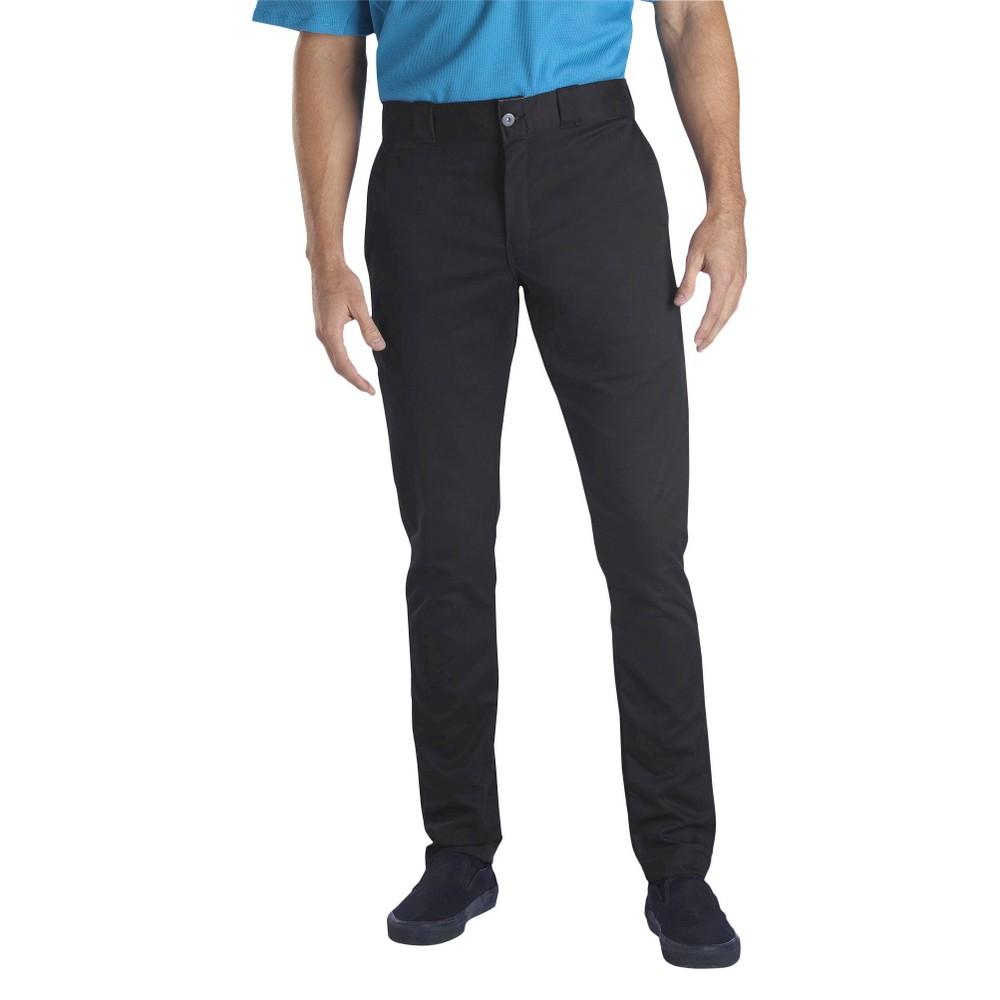 Best Price Dickies Men Skinny Straight Fit Flex Twill Pants Black 30x30