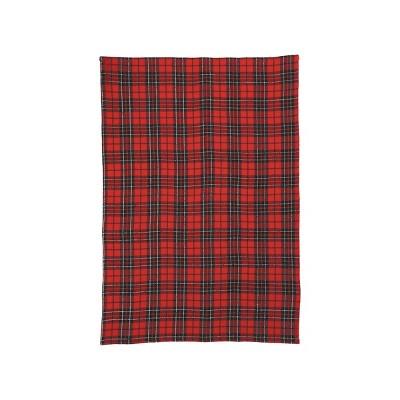 C&F Home Red Black Plaid Towel