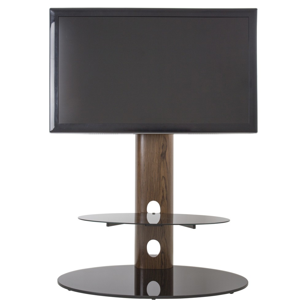 """Image of """"60"""""""" TV Stand with TV Mount - Walnut/Black"""""""