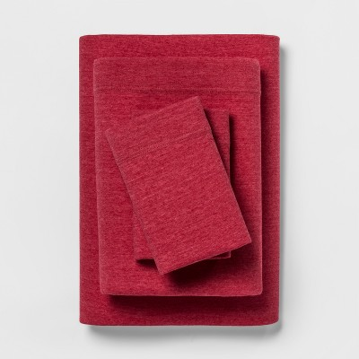 Jersey Sheet Set (Full)Heather Red - Room Essentials™