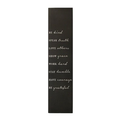 "11.81"" x 44.09"" Be Kind Oversized Wall Art Black - Stratton Home Décor"