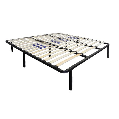 Boyd Sleep Euro Base Platform Bentwood Slat Support Bed Frame w/ Lumbar Adjustment for Firmness, Assembles Without Tools, King